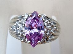 Vintage Sterling Silver Alexandrite Ring by TheJewelryLadysStore, $35.00