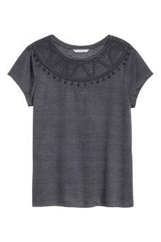 Top in misto lino | H&M