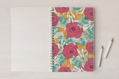 Garden of Flowers Notebooks by Ana de Sousa at minted.com