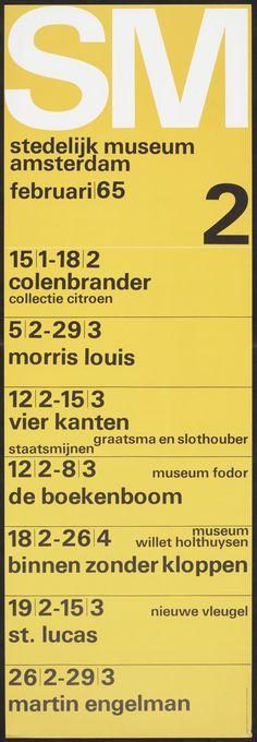 Maandprogramma's 1965 _ Wim Crouwel --- Nice poster idea for a wall!