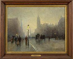 ALESSANDRO GUACCIMANNI (AMERICAN 1864-1927). NEW YORK STREET