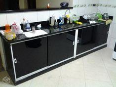 Kitchen Sets, Home Decor Kitchen, Kitchen And Bath, Kitchen Design, Home Decor Shelves, Black Decor, Decoration, Buffet, Sweet Home