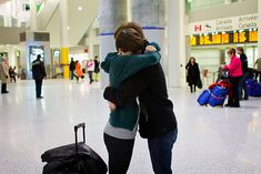 When you meet at an airport or bus station: | What A Long Distance Relationship Feels Like