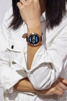 @kristengracelam sporting our Q Founder smartwatch at SXSW.