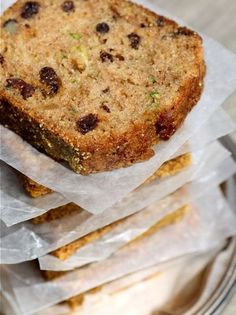 Zucchini, Raisin, and Walnut Tea Loaves