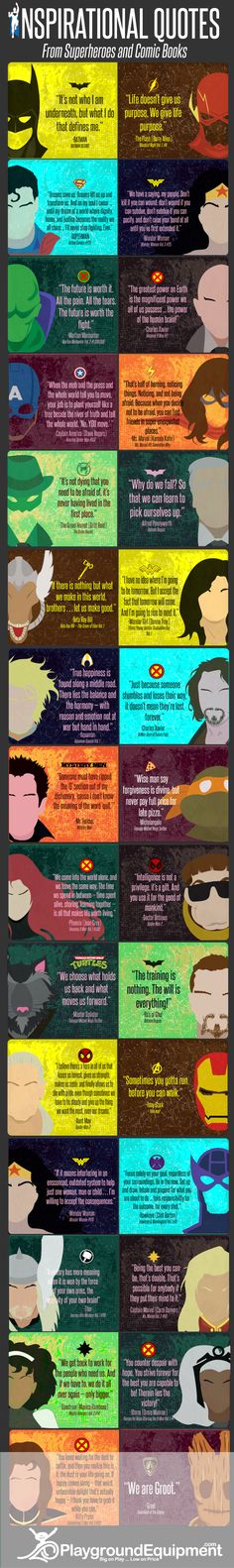 Inspirational Quotes From Your Favorite Superheroes Infographic