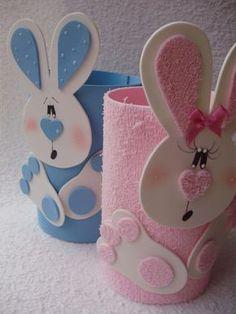 Risultati immagini per páscoa em eva Tin Can Crafts, Bunny Crafts, Easter Crafts For Kids, Diy And Crafts, Paper Crafts, Easter Bunny, Easter Eggs, Spring Crafts, Decor Crafts