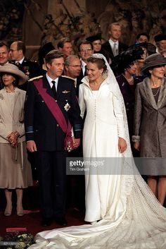 The Wedding Of Prince Philippe Of Belgium And Miss Mathilde D'udekem D'acoz Bride And Groom With Their Families And Friends.  (Photo by Tim Graham/Getty Images)