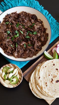 Bring out the slow cooker for easy barbacoa recipes, perfect for batch-cooking. This recipe is so versatile you can prepare it 4 different ways! Meat Recipes, Slow Cooker Recipes, Mexican Food Recipes, Crockpot Recipes, Cooking Recipes, Healthy Recipes, Cooking Videos, Indian Recipes, Healthy Food
