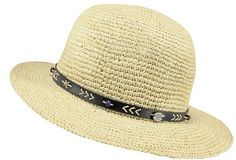 A classic sun hat made of raffia straw, derived from the strong raffia palm. The Oregano hat is decorated with a leather strap for a minor touch of rock. #barts #accessories #oregano #hat #summer