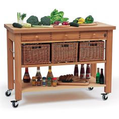 Lambourn 3 Drawer Kitchen Trolley