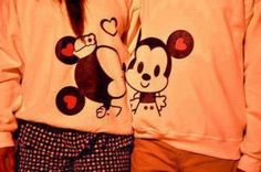 sweater couple sweaters minnie and mickey couple clothing tumblr minnie mouse mickey mouse