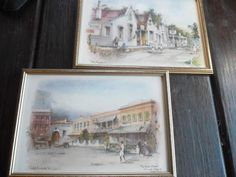Prints - Philip Bawcombe TWO PRINTS - THE UNION CHAPEL JOHANNESB. & ROYAL HOTEL PELGRIMSREST for sale in Napier (ID:162473263)
