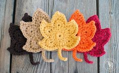 Fall Leaves Free Crochet Pattern-10