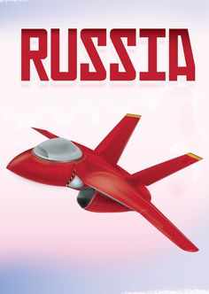 Russia Fighter Aircraft Promo Poster Print Art Print