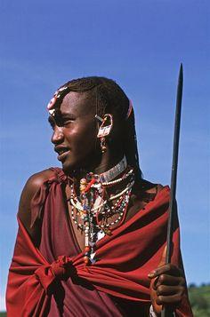 Africa   Masaai moran.  Norongoro National Park, Tanzania   ©Michel Renaudeau