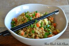 Quinoa Un-Fried Rice - This Chick Eats Clean The best alternative to fried rice!