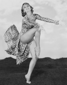 Cyd Charisse in leopard print. She was an AMAZING dancer!