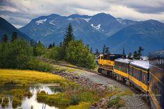 Anchorage Alaska to Denali National Park via Alaska Railways.