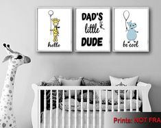 Wall Art For Nursery Bathroom Decor Home Decor by FMDesignStudio Playroom Wall Decor, Boys Room Decor, Nursery Wall Art, Bedroom Wall, Nursery Decor, Housewarming Gifts, House Warming, Baby Shower Gifts, Canvas Prints