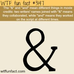 "The ""&"" and ""and"" meaning - WTF fun facts"