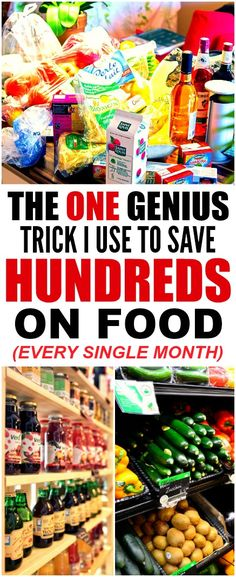 This trick to save money on groceries and stay under budget is THE BEST! I'm so glad I found this AMAZING tip! Now I have a great way to save money at the grocery store! Definitely pinning!