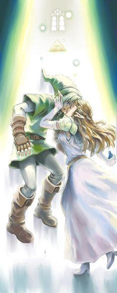 The Legend of Zelda: Ocarina of Time. - Link and Zelda. Oot Link, Link Zelda, Link And Zelda Kiss, Navi Zelda, The Legend Of Zelda, Gi Joe, Cartoon Disney, Nintendo, Concept Art
