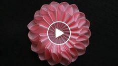 Всем привет!! В этом видео я покажу Вам Мастер класс по созданию очень милого розового цветочка, которым можно украсить и ободок, и повязку, �