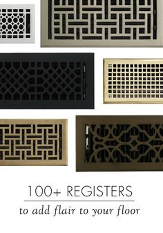 Add a striking design element to the floors in your home with a traditional floor register from Signature Hardware. Available in cast iron, solid bronze, solid brass, wood and in a variety of finishes, including chrome, oil rubbed bronze, polished nickel and more, you'll find a look you'll love.