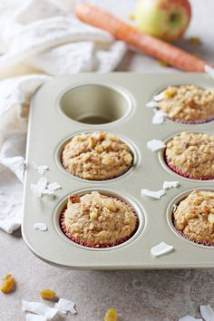 Whole Grain Morning Glory Muffins | cookiemonstercooking.com