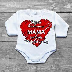 Sorry dziewczyny MAMA jest moją walentynką #bodziaki #bodyniemowlece #poczpol #instadziecko #ubrankadziecięce #walentynki #mama Nyan Cat, Onesies, Vogue, Body, Humor, Cute, Clothes, Fashion, Outfits