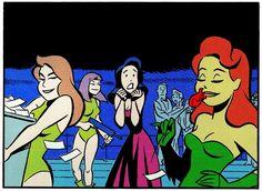 Poison Ivy in Batman: Cruise to Nightmare Comic Art, Comic Books, Harley Quinn Comic, Gotham Girls, Bruce Timm, Vintage Comics, Vintage Cartoon, Gotham City, Cartoon Art