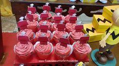 Cupcakes 3 Festa Infantil Snoopy do Pedro