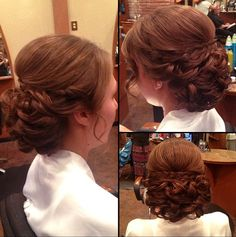 My very favorite bridal updo. It even has a small braid. Gotta keep the braid in there somewhere. Its traditional german wedding hair to have a braid