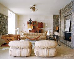 Wall feature, feature -  kelly wearstler met home by Sterin, via Flickr