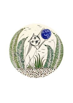 Mexican print for kids rooms -Cat Catching Moon from Tonalá Aztec Clothing, Kids Prints, Kids Rooms, Cool Kids, Mexican, Moon, Traditional, Cat, Cool Stuff