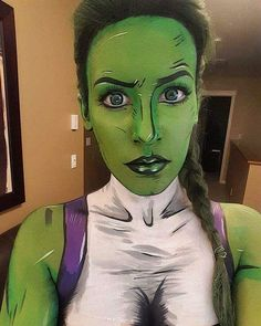 A green throwback for luckily I've gone the whole day without getting pinched! She Hulk Costume, She Hulk Cosplay, Best Cosplay, Super Hero Costumes, Girl Costumes, Cosplay Costumes, Cosplay Ideas, Costume Ideas, Halloween Diy