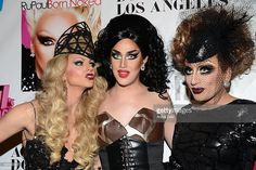Courtney Act, Bianca Del Rio and Adore Delano attend Logo TV's 'RuPaul's Drag Race' season 6 reunion taping at The Theatre at Ace Hotel Downtown LA on May 6, 2014 in Los Angeles, California.