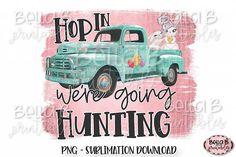 Easter Sublimation Design, Vintage Truck,Were Going Hunting Rose Thorn Tattoo, Logo Background, Scene Creator, Pattern And Decoration, Vintage Design, Line Design, Journal Cards, School Design, Design Bundles