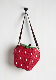 Styled Sweetly Bag. Whatever air your ensemble emits will be given a sweet spin with the addition of this strawberry basket purse! #red #modcloth