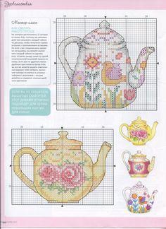 Russian Teapot Trivets 3/3 (Plastic Canvas)