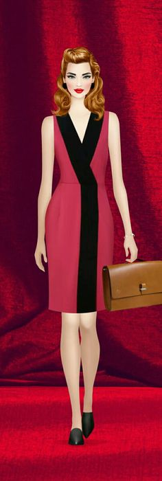 Having a Ball Casual Dresses, Dresses For Work, Prom Dresses, Fashion Details, Fashion Design, Block Dress, Covet Fashion Games, One Piece Dress, Classic Outfits