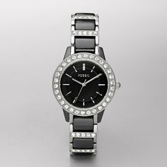 Fossil Jesse Ceramic Watch in Black. I WILL ALSO OWN THIS, THANK YOU VERY VERY MUCH =)