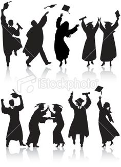 graduate silhouettes by Petra CR