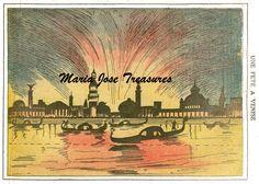 Vintage Venetian scene Paper Model Cut Outs - Digital Download by MariaJoseTreasures on Etsy