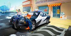 Art of the Day Nick and Judy's Top Gear - Zootopia News Network Disney Au, Disney And Dreamworks, Disney Movies, Disney Pixar, Disney Crossovers, Zootopia Fanart, Zootopia Comic, Zootopia 2016, Nick Wilde