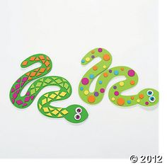 Snake Craft. Make with craft foam. Year of the snake