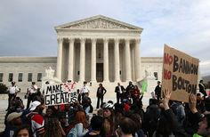 WASHINGTON, DC - NOVEMBER 15: DC area students protest the election of President-elect Donald Trump in front of the US Supreme Court. The election of Trump as president has sparked protests in cities across the country.  (Photo by Mark Wilson/Getty Images)