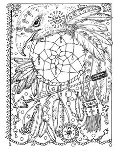 Instant Download 5 Pages Animal Spirits To Color Wolf Raven