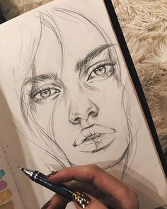 Easy Pencil Drawings, Pencil Sketch Drawing, Drawing Eyes, Art Drawings Sketches Simple, Realistic Drawings, Beautiful Drawings, Face Sketch, Sketch Art, Beautiful Pictures